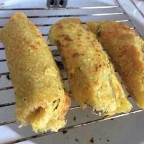 Lamm-Kartoffelpäckchen vor dem Ofen