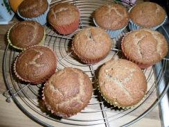 Kastanien-Muffins nach dem Backen