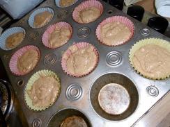 Kastanien-Muffins warten aufs Backen