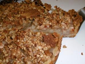 Birnenkuchen-Anschnitt