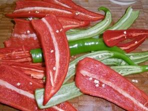 Paprika und Chili