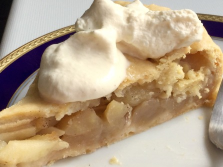 Apple-Pie mit Sahne