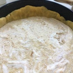 Träubleskuchen-Mandelmasse